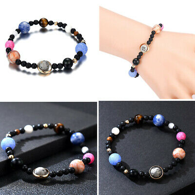 Universe Galaxy The Eight Planets in The Solar System Guardian Star Bracelet XQ1