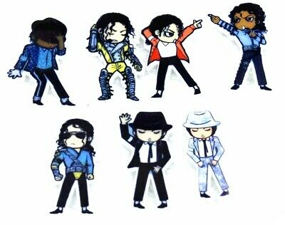 8PC Michael Jackson Flatback Gift Embellishments Cupcake Toppers Crafts Hair Bow