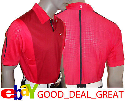 cc46211f Nike TW Tiger Woods Perforated Panel Polo Shirt 542068-680 > *Rare TW Sunday