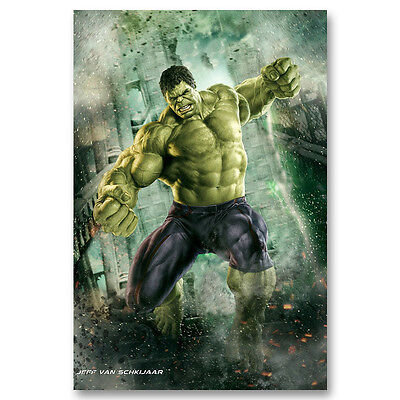 Hulk Avengers Superheroes Movie Canvas Poster Art Prints 8x11 24x36 inch
