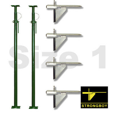 STRONGBOYS ®  x4 and  2x SIZE No.1 ACROW PROPS - Inc VAT and delivery