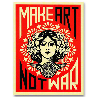 Make Art No War Canvas Poster Art Prints Picture Decoration 8x11 24x32 inches