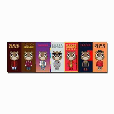 Kanye West Bear Hiphot Music Star Art Canvas Poster Large Prints 8x26 20x65inch