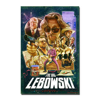 The Big Lebowski Classic Movie Art Canvas Poster Prints 8x12 24x36 inch