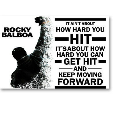 Rocky Balboa Motivational Quote Movie Canvas Poster Art Prints 8X12 20x30 inch