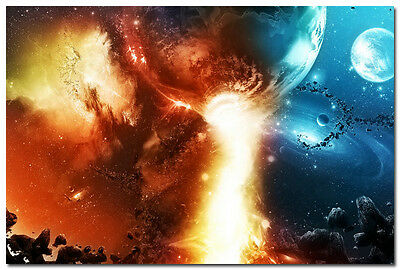 Star Galaxy Space Universe Scenery Art Silk Poster 24x36 inch Wall Decor