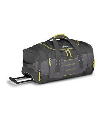 High Sierra Ultimate Access 76cm Wheeled Duffel Charcoal/Yellow