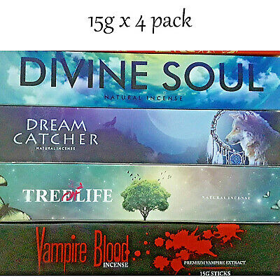 Incense Sticks 15g X 4 Pack Home Fragrance Sticks Yoga Meditation Insence Sticks