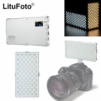LituFoto F18 Bi-color 3200-5600K LED Camera Video Photograph Light with Battery