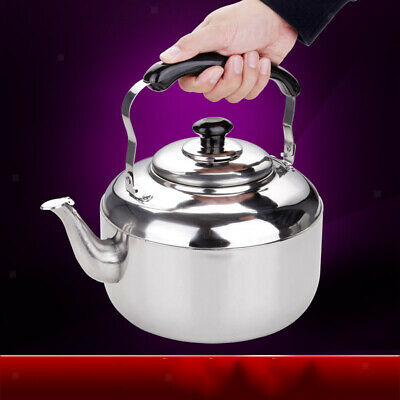 4L Stainless Steel Whistling Kettle Teapot Gas Stovetop Hobs Fast Boiling