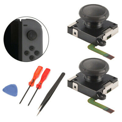 2x Analog Joystick Thumbstick Rocker Module with Tools for Switch Joy-Con