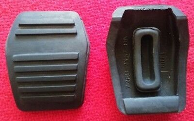 Ford Escort mark 1 + 2 Capri manual Brake and Clutch Pedal Pad Rubbers pair