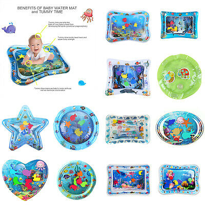 Inflatable Water Mat For Baby Infant Toddlers PVC Mattress Playmat Tummy Time