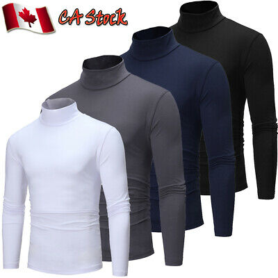 New Mens Roll Turtle Neck Pullover Knitted Jumper Funnel Neck Tops Sweater