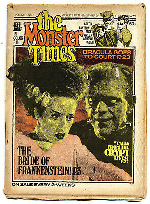 The Monster Times #4 (US 1973, fold-out newspaper)