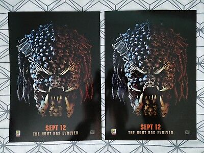 2x Predator ODEON A4 Glossy Poster - Comic Con International 2018 Exclusive