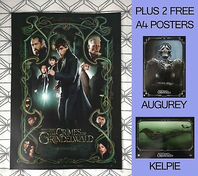 Fantastic Beasts Crimes Of Grindelwald ODEON A3 Poster FAN SCREENING + 2 FREE A4