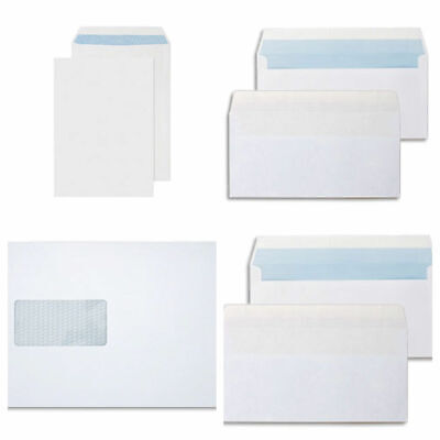 25 X High Quality White Self Seal Envelopes Plain  No Window C4 A4 stationery