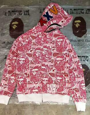 9e292a08 Japan Bape Camo Zipper Letters Shark A Bathing Ape Sweater Sports Jacket  Hoodies