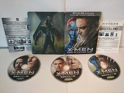 X-Men Days of Future Past Steelbook Limited Edition Blu Ray 3D Comme neuf