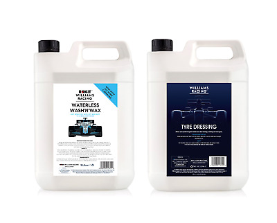 Williams Racing 5L Waterless wash and Wax and 5L Tyre Dressing