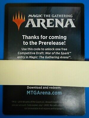 MTG Magic Arena War of the Spark Prerelease Competitive Draft Code