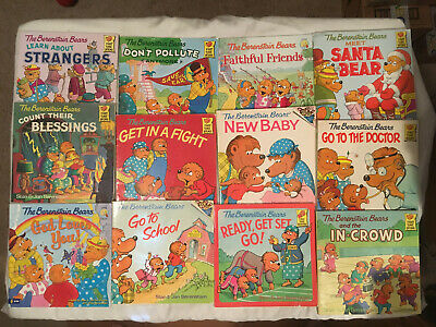 Lot BERENSTAIN BEARS In Crowd DOCTOR Count Blessings  FIRST TIME BOOKS lot of 12