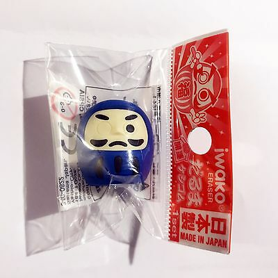 消しゴム Gomme Iwako - DARUMA Bleu - Made in Japan - Import direct
