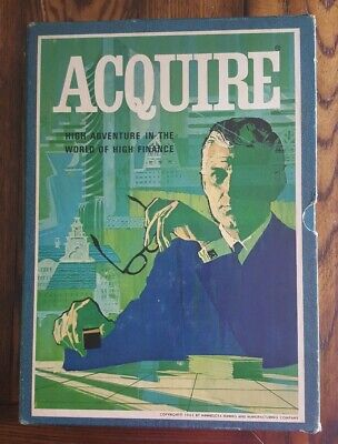 Vintage 3M Bookshelf Acquire High Finance Board Game 1962
