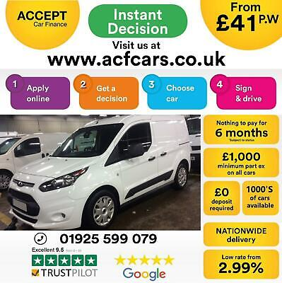 2016 White Ford Transit Connect 1.5 Tdci 100 L1 Trend Van Car Finance Fr £41 Pw