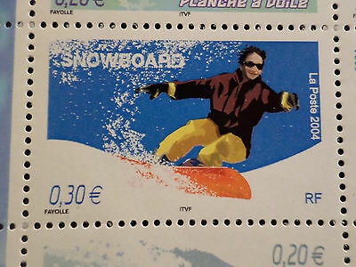 FRANCE 2004, timbre 3699, SPORTS de GLISSE, SNOWBOARD, neuf , MNH STAMP
