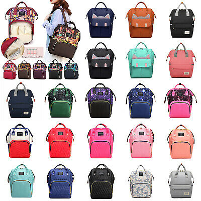 For Mommy Baby Diaper Large Capacity Mom Travel Backpacks Baby Nappy Tote Bag US