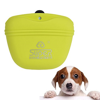 Petilleur Pet Training Bag in Silicone Dog Training Waist Bag with Clip and