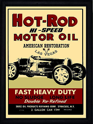 Hot Rod Motor Oil, Retro metal Aluminium Sign vintage / man cave / Garage