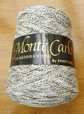 Foxstones 'Monte Carlo' Machine Knitting Yarn - Natural - 4ply - Approx 500g
