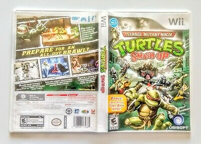 Teenage Mutant Ninja Turtles: Smash-Up Nintendo Wii COMPLETE w/ Bonus Comic TMNT