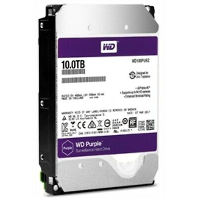 New Western Digital Hard Drive WD100PURZ 10TB SATA 6Gb/s 256MB 3.5WD Purple 5400
