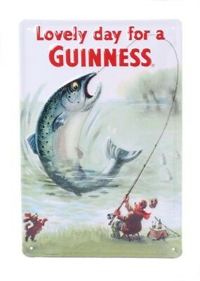 Guinness trout - Retro Tin Sign - 20 x 30 cm