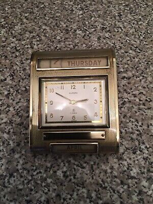 Antique Art Deco Calender Clock
