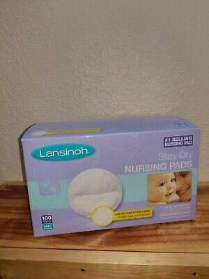 Lansinoh Disposable Nursing Pads of Quilted Honeycomb Lining Medium ~ 100 Pieces