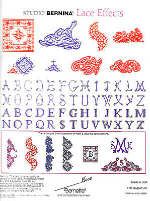 LACE EFFECTS #117 Embroidery Memory Card - Brother, Bern. Deco, Baby Lock .pes