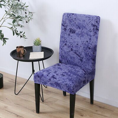 Kitchen Hotel Bar Stretch Dining Chair Stool Seat Cover Protector Slipcover