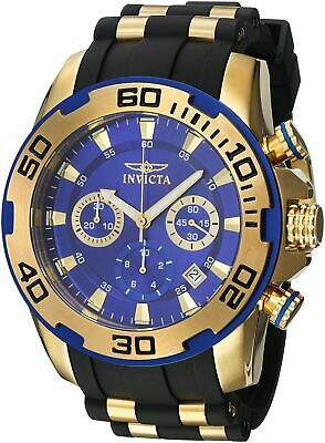Invicta Men's Pro Diver Stainless Steel Quartz Watch with Silicone Strap Blac...