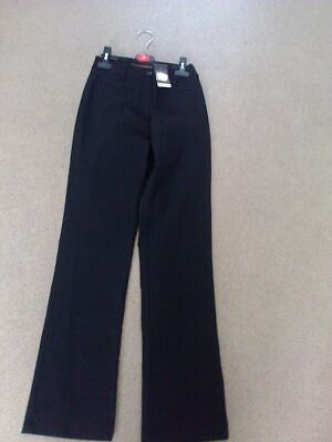 childs black  candy stretch button & zip fasten trousers  age 14 yrs