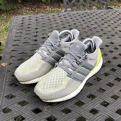 90fae628b5d9e Adidas Ultra Boost 2.0 Glow In The Dark PK Green Grey Mens Size 7.5 Rare  BB4145