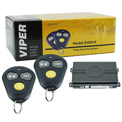AVITAL 3100LX Keyless Entry 4-Channel 1-Way Car Alarm Security System + 2 Remote