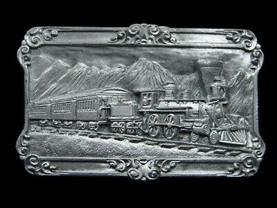 Sb03125 *Nos* Vintage 1984 **Steam Engine Train** Railroad Belt Buckle