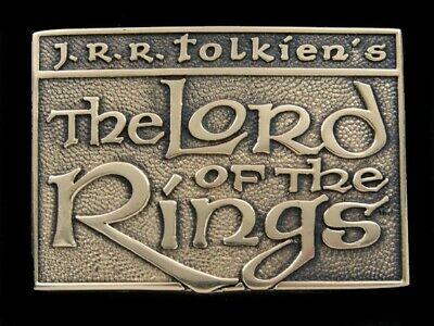 Sb03153 *Nos* Vintage 1979 **The Lord Of The Rings** Fantasy Solid Brass Buckle