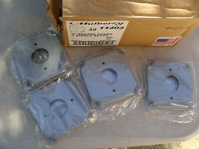 "Lot of 39 - Mulberry 11403, 4"" Square Wallplate Cover, 1 Single Recpt"