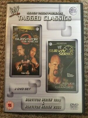 WWE Tagged Classics - Survivor Series 1999 & 2000 (DVD) 99 00 WWF Rare